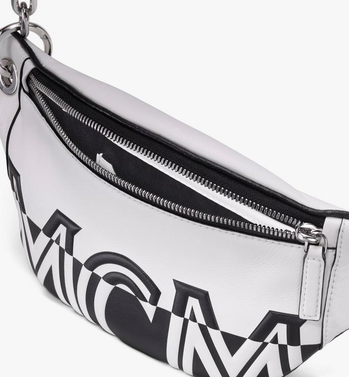 MCM Mini Crossbody Bag in Contrast Logo Leather White MWR9ACL12WT001 Alternate View 3
