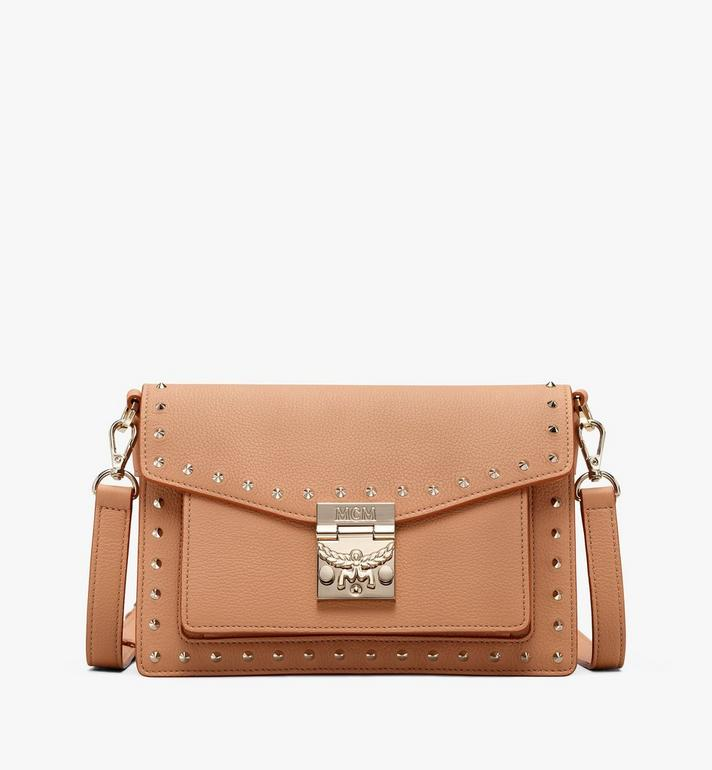 MCM Patricia Crossbody aus genietetem Leder in Park Avenue Alternate View