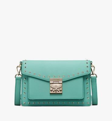 กระเป๋าสะพายครอสบอดี้ Patricia วัสดุหนัง Park Avenue ปักหมุด