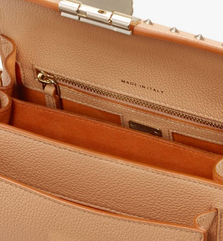 MCM Patricia Crossbody in Studded Park Avenue Leather Beige MWR9APA13BC001 Alternate View 4