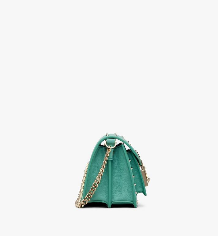 MCM Patricia Crossbody in Studded Park Avenue Leather Green MWR9APA13G7001 Alternate View 2