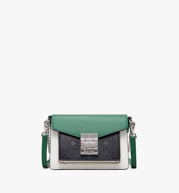 กระเป๋าสะพายครอสบอดี้ Patricia วัสดุหนังสีคัลเลอร์บล็อก