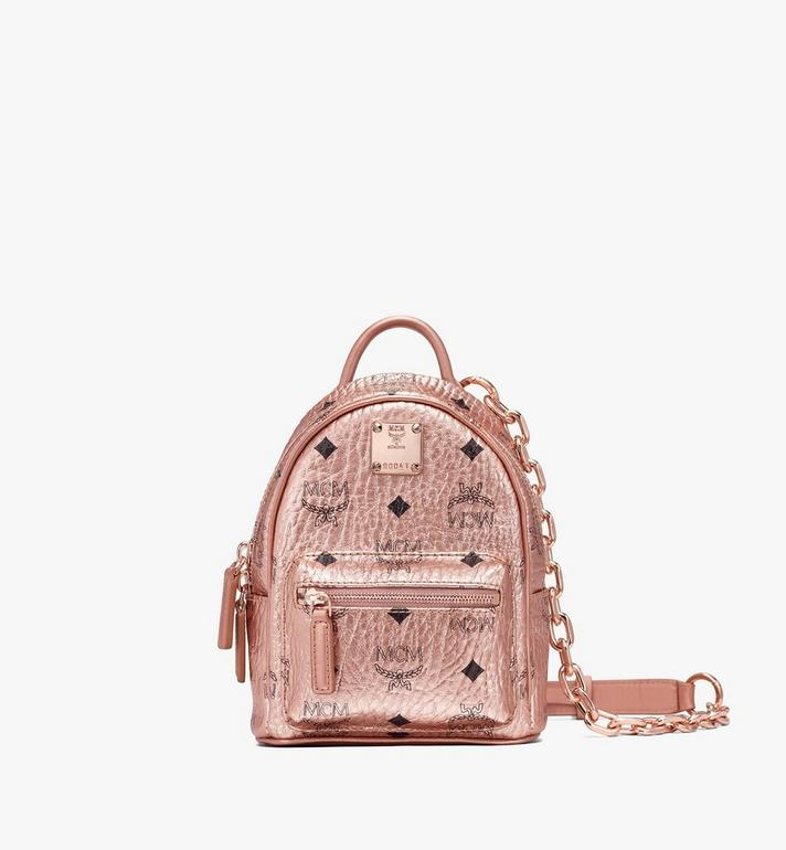MCM Essential Mini Crossbody Backpack in Visetos  MWR9ASE78TC001 Alternate View 1