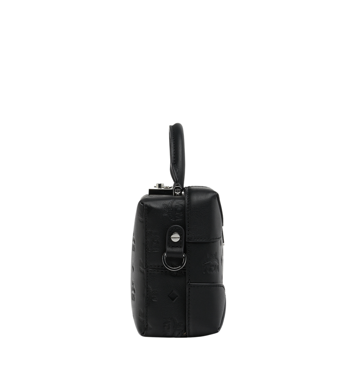MCM Soft Berlin Crossbody Bag in Monogram Leather Black MWR9SBF25BK001 Alternate View 3