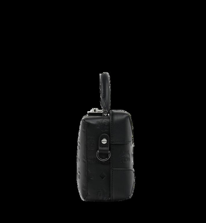 MCM Weiche Berlin Crossbody-Tasche aus Leder mit Monogramm Black MWR9SBF25BK001 Alternate View 3
