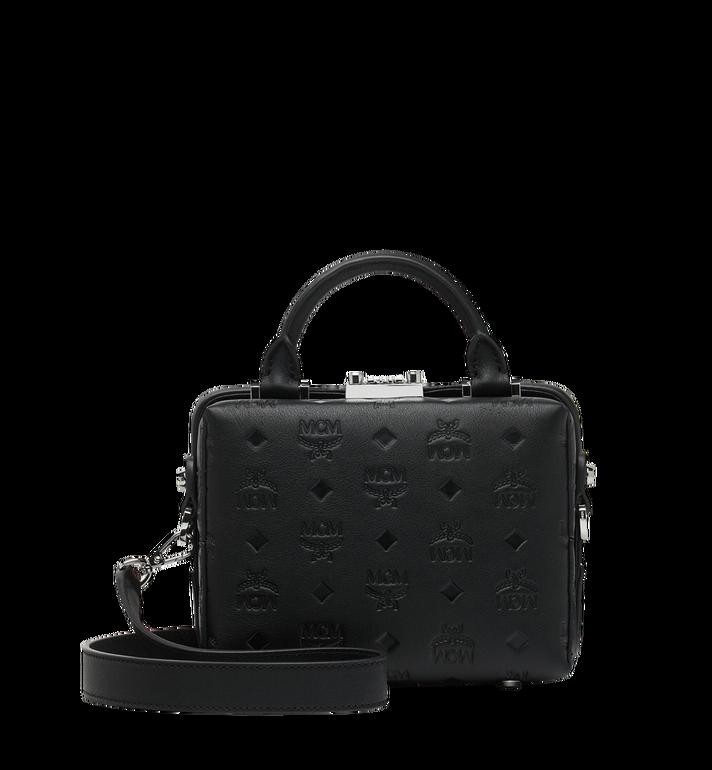 MCM Weiche Berlin Crossbody-Tasche aus Leder mit Monogramm Black MWR9SBF25BK001 Alternate View 4
