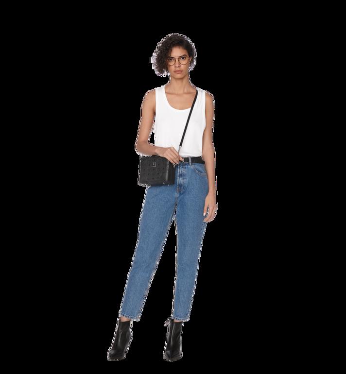 MCM Soft Berlin Crossbody Bag in Monogram Leather Black MWR9SBF25BK001 Alternate View 7