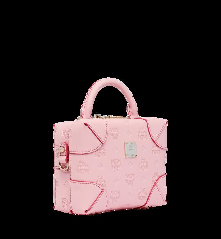 MCM Soft Berlin Crossbody Bag in Monogram Leather Pink MWR9SBF25QB001 Alternate View 2
