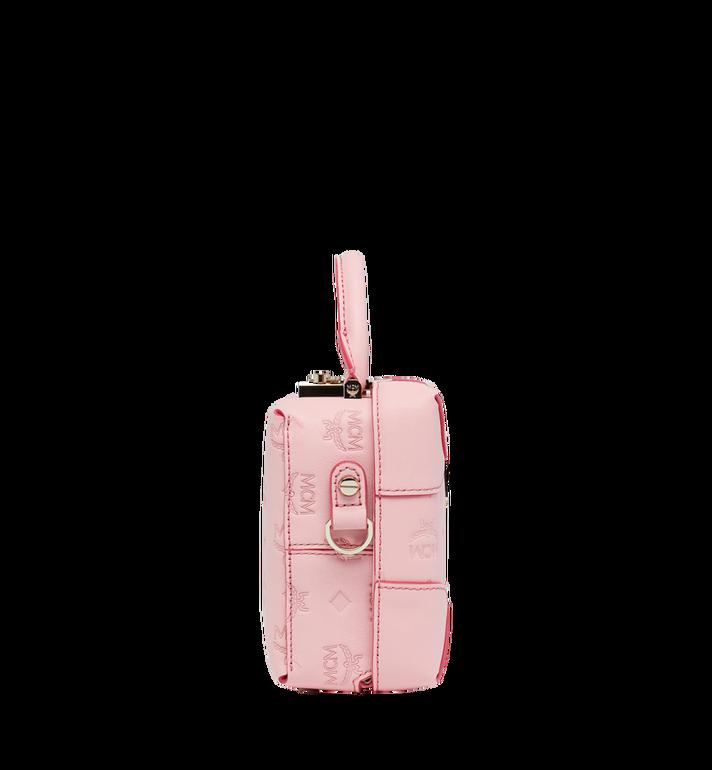 MCM Soft Berlin Crossbody Bag in Monogram Leather Pink MWR9SBF25QB001 Alternate View 3