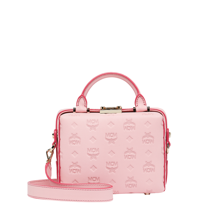MCM Soft Berlin Crossbody Bag in Monogram Leather Pink MWR9SBF25QB001 Alternate View 4
