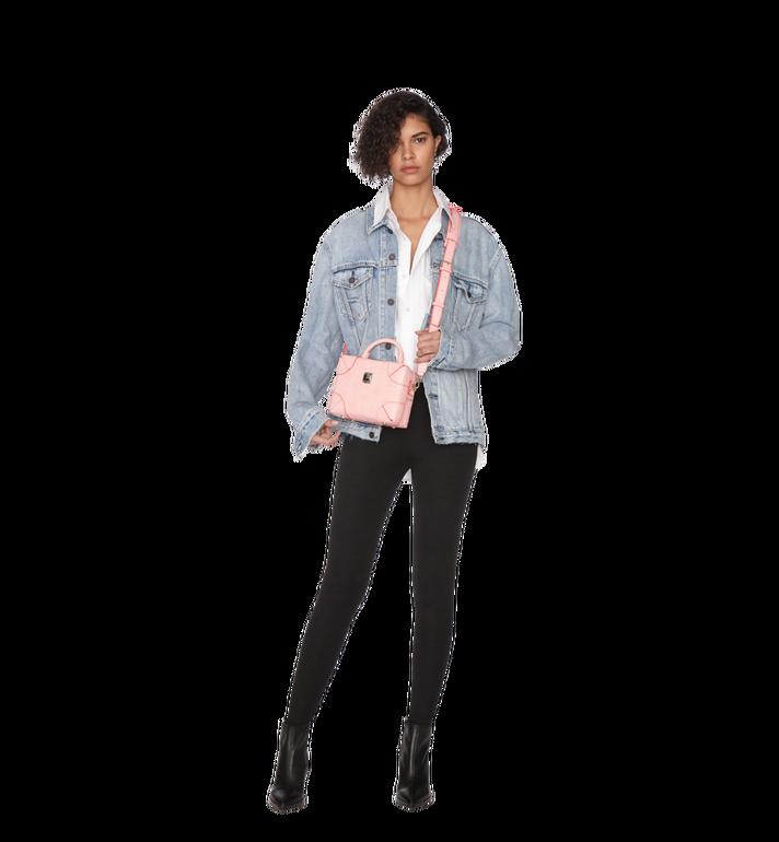 MCM Soft Berlin Crossbody Bag in Monogram Leather Pink MWR9SBF25QB001 Alternate View 6
