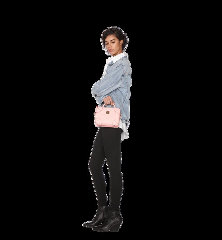 MCM Soft Berlin Crossbody Bag in Monogram Leather Pink MWR9SBF25QB001 Alternate View 7