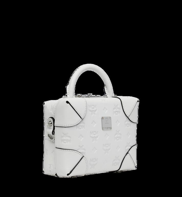 MCM Weiche Berlin Crossbody-Tasche aus Leder mit Monogramm White MWR9SBF25WT001 Alternate View 2