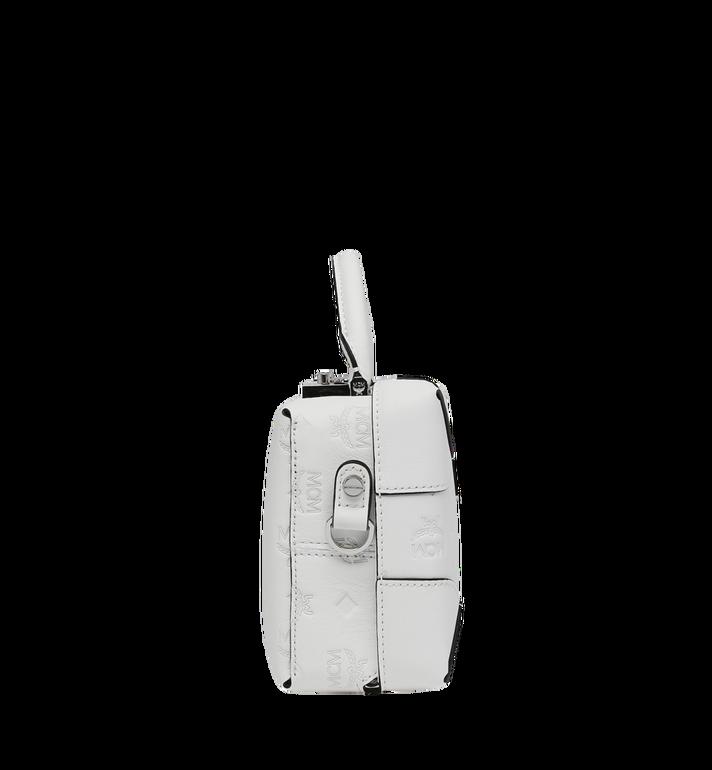 MCM Weiche Berlin Crossbody-Tasche aus Leder mit Monogramm White MWR9SBF25WT001 Alternate View 3