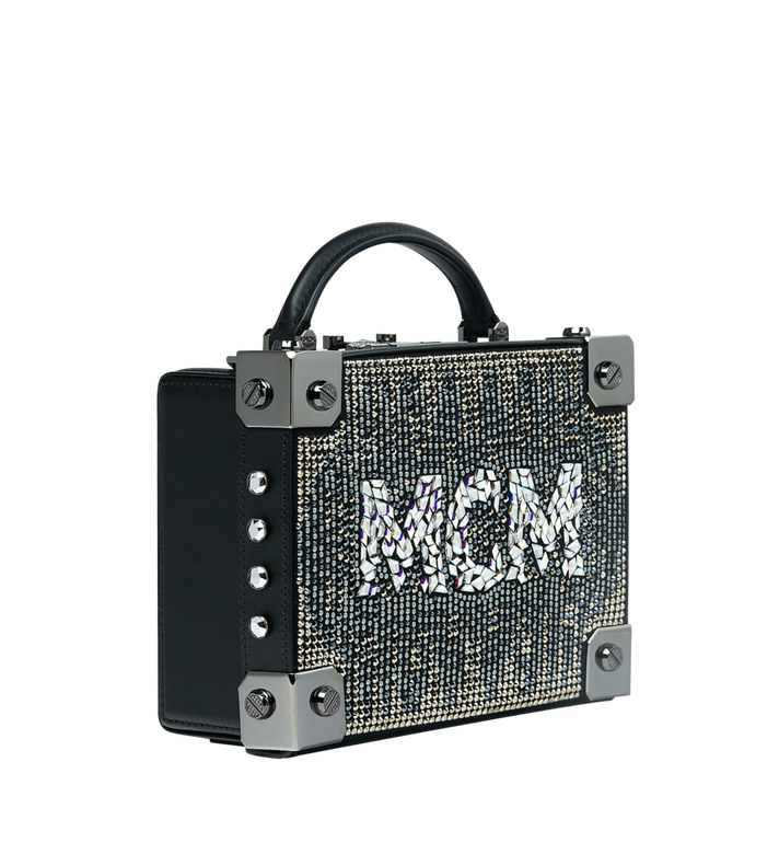 MCM Berlin Crossbody-Tasche in Mosaic Crystal Black MWR9SBN38BK001 Alternate View 2