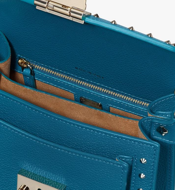 MCM Patricia Crossbody in Studded Park Ave Leather Blue MWR9SPA13JF001 Alternate View 4