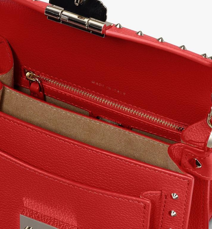 MCM Patricia Crossbody in Studded Park Ave Leather Red MWR9SPA13R4001 Alternate View 4