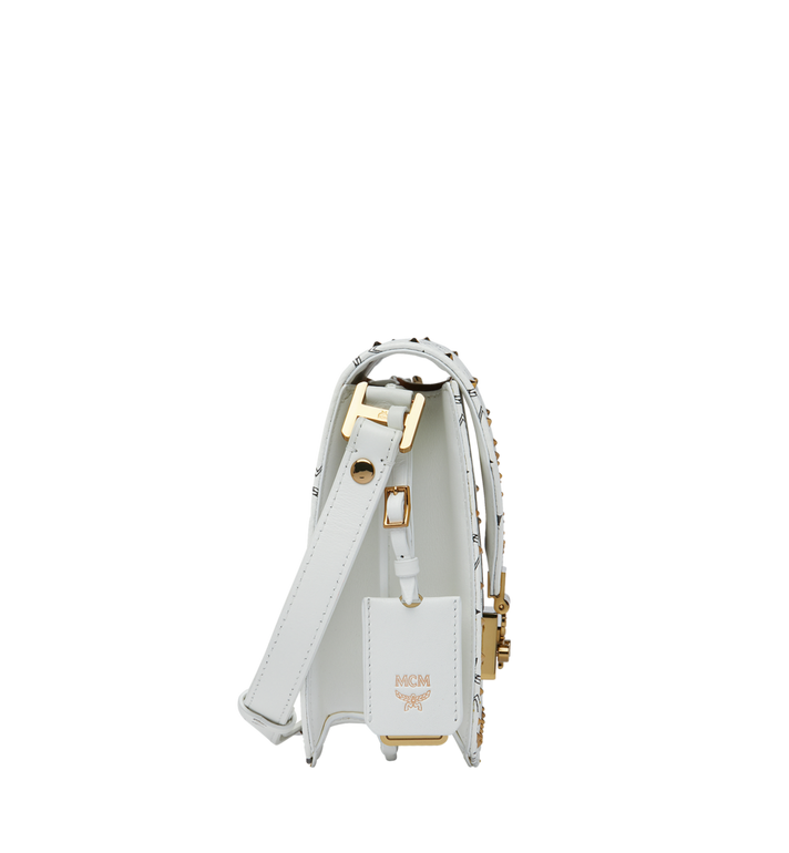 MCM Patricia Shoulder Bag in Studded Outline Visetos White MWR9SPA24WT001 Alternate View 3