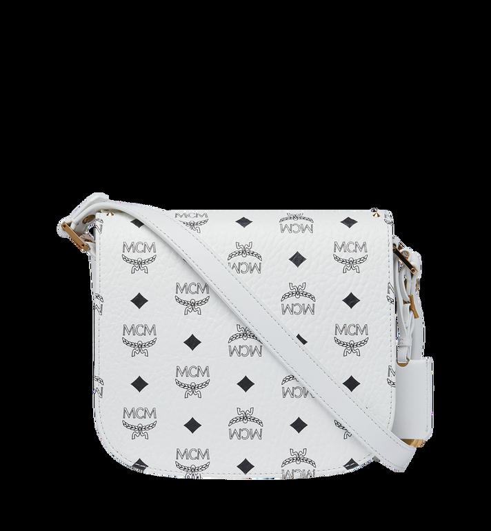 MCM Patricia Shoulder Bag in Studded Outline Visetos White MWR9SPA24WT001 Alternate View 4