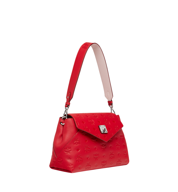 MCM Essential Crossbody in Monogram Leather Red MWR9SSE44RJ001 Alternate View 2