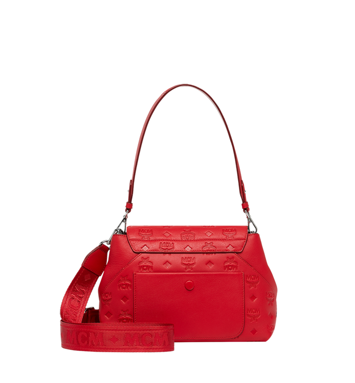 MCM Essential Crossbody in Monogram Leather Red MWR9SSE44RJ001 Alternate View 4