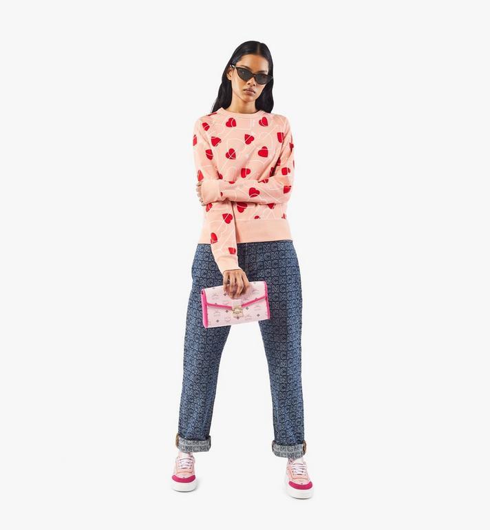 MCM Millie Crossbody in Visetos Leather Block Pink MWRAAME09QH001 Alternate View 5