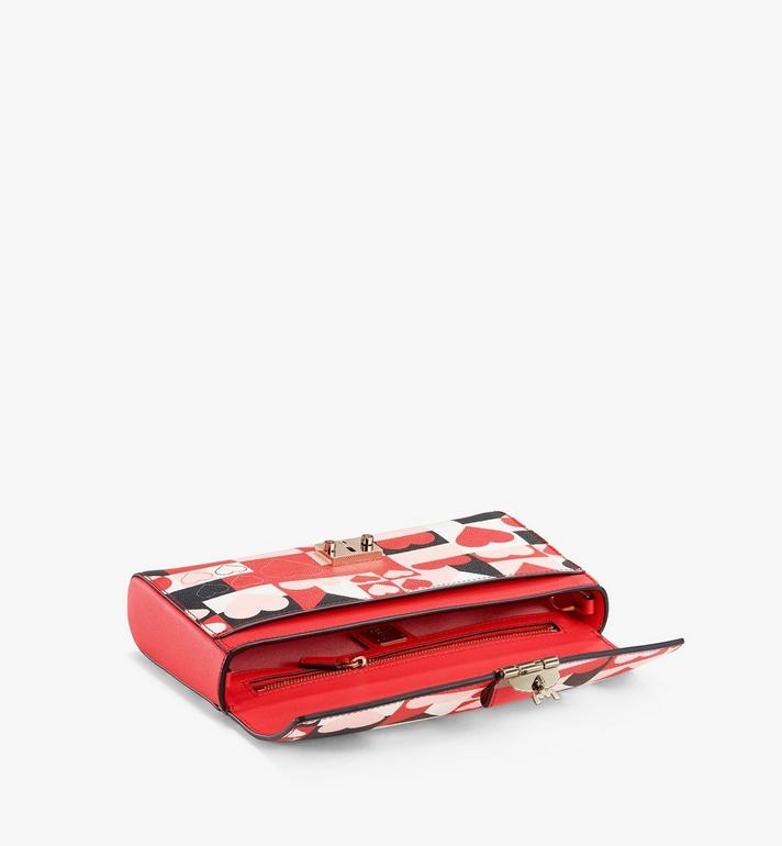 MCM Millie 立體情人節皮革斜背包 Red MWRAAME12RP001 Alternate View 2