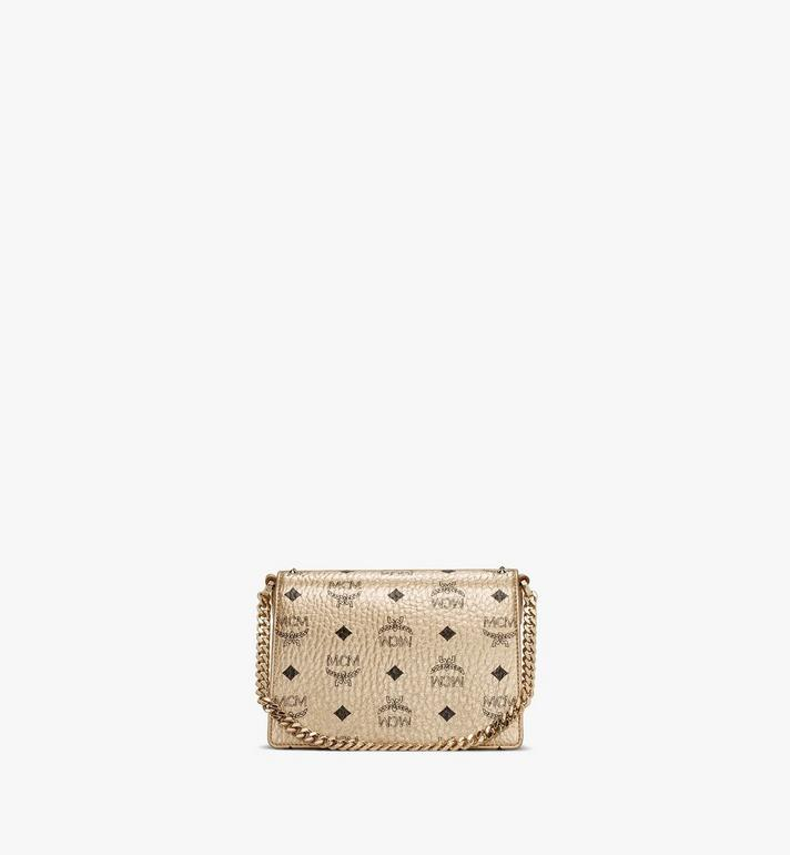 MCM Patricia Crossbody in Studded Outline Visetos Gold MWRAAPA05T1001 Alternate View 4