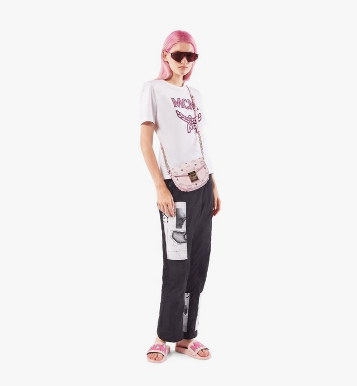 MCM Runde Patricia Crossbody-Tasche in Visetos Pink MWRAAPA08QH001 Alternate View 5