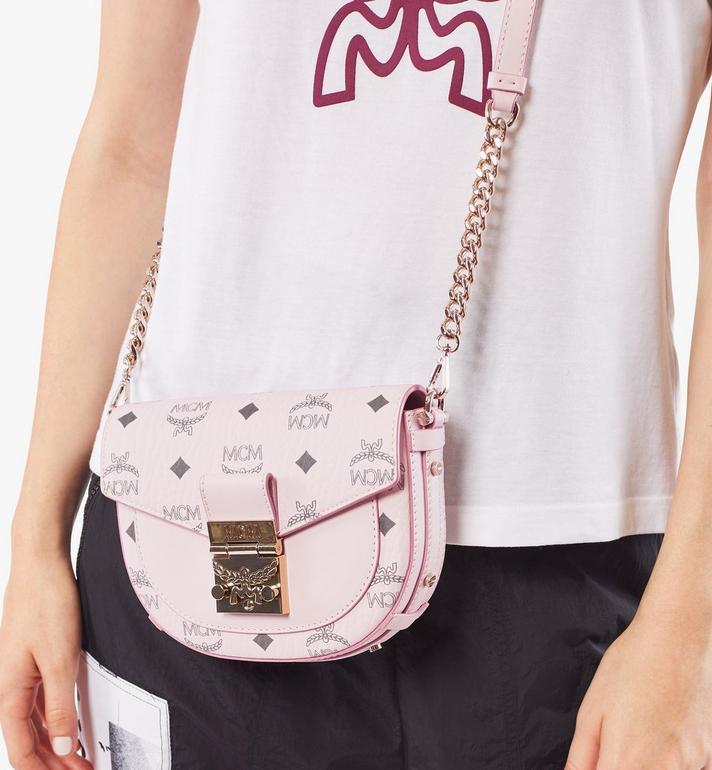 MCM Runde Patricia Crossbody-Tasche in Visetos Pink MWRAAPA08QH001 Alternate View 6