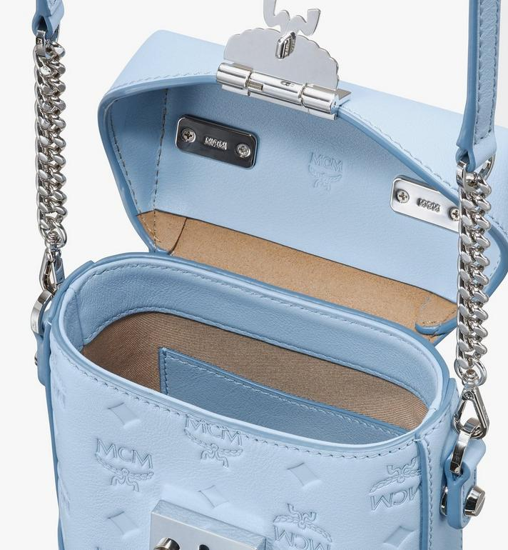 MCM N/S Mini Soft Berlin Crossbody in Monogram Leather Blue MWRASBF01H2001 Alternate View 4