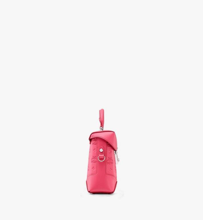 MCM 花押字圖案皮革 N/S Soft Berlin迷你斜揹包 Pink MWRASBF01QE001 Alternate View 2