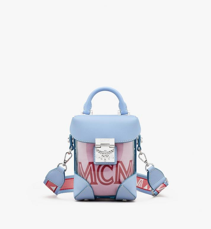 MCM N/S Mini Soft Berlin Crossbody in Hologram Blue MWRASBF04H2001 Alternate View 1