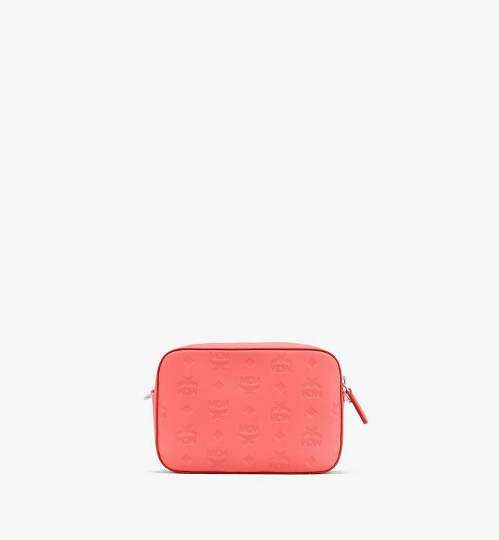 MCM Klara Crossbody Pouch in Monogram Leather Orange MWRASKM01O3001 Alternate View 3