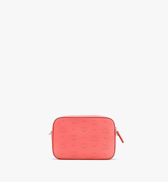 MCM Pochette à bandoulière Klara en cuir monogrammé Pink MWRASKM01O3001 Alternate View 3