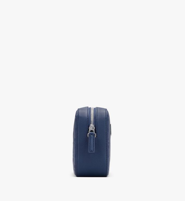 MCM Klara Crossbody-Tasche aus Leder mit Monogramm Blue MWRASKM01VA001 Alternate View 2