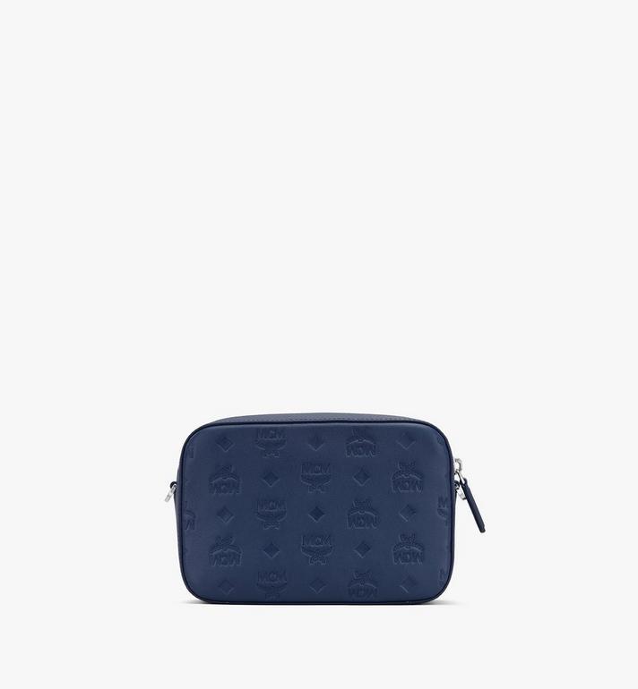 MCM Klara Crossbody-Tasche aus Leder mit Monogramm Blue MWRASKM01VA001 Alternate View 3