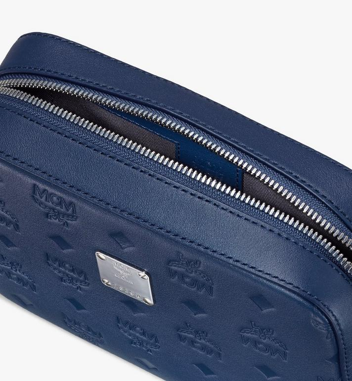 MCM Klara Crossbody-Tasche aus Leder mit Monogramm Blue MWRASKM01VA001 Alternate View 4