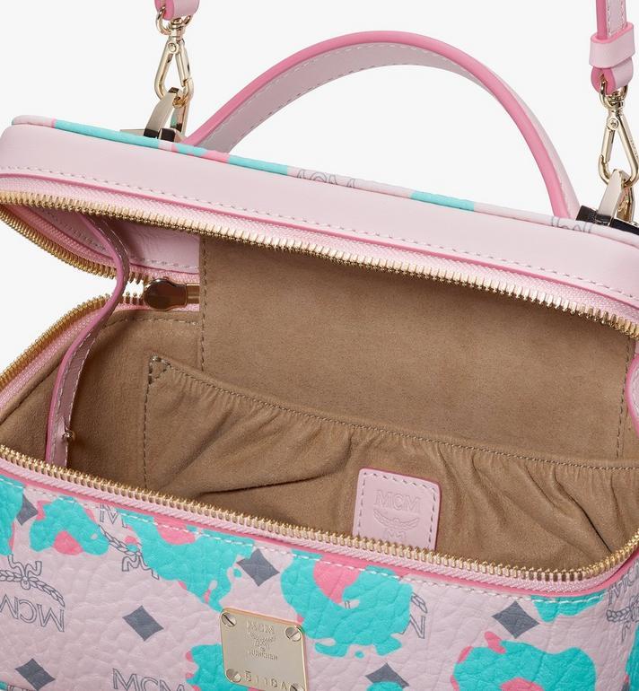 MCM Rockstar Vanity Case in Floral Leopard Pink MWRASLF02QI001 Alternate View 4