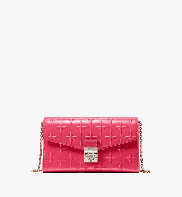 MCM Millie菱紋漆皮斜揹包 Pink MWRASME01QE001 Alternate View 1