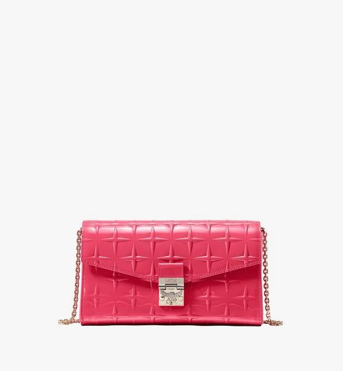 Millie Crossbody-Brieftasche aus Lackleder mit Stern-Monogramm