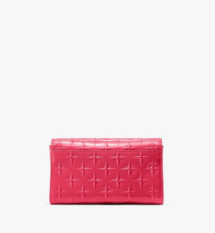MCM Millie Crossbody-Tasche aus Lackleder mit Rautenmuster Pink MWRASME01QE001 Alternate View 2
