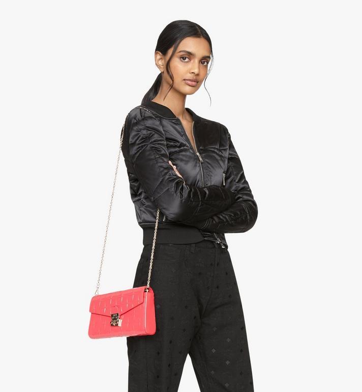 MCM Millie Crossbody-Tasche aus Lackleder mit Rautenmuster Pink MWRASME01QE001 Alternate View 5