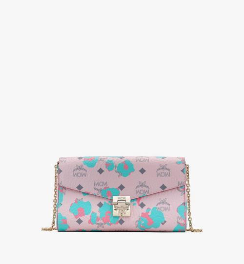 Millie Crossbody-Brieftasche mit geblümtem Leopardenmuster