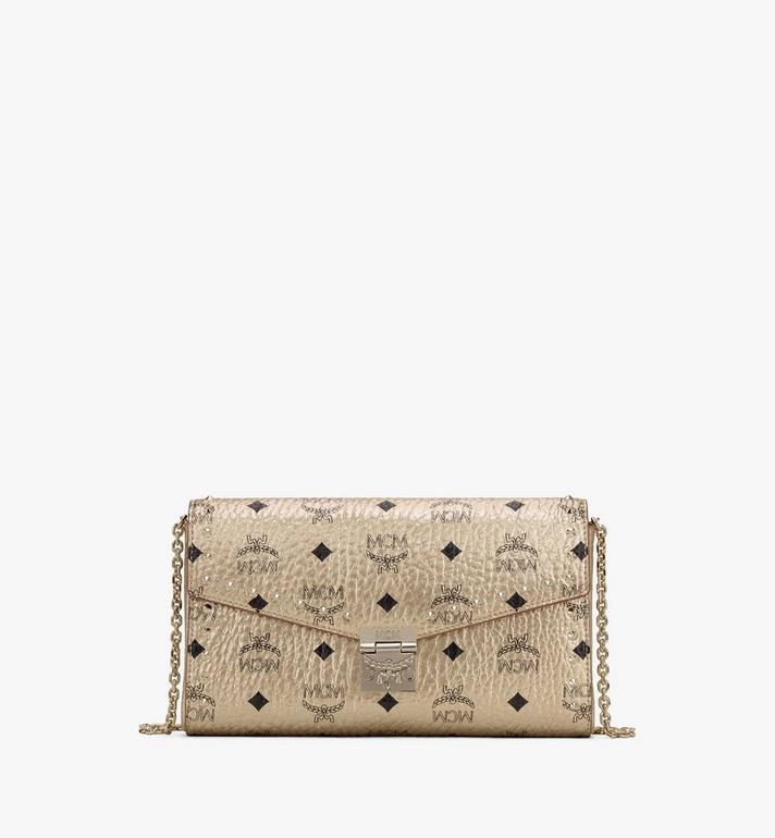 MCM Millie Crossbody in Studded Visetos Gold MWRASME05T1001 Alternate View 1