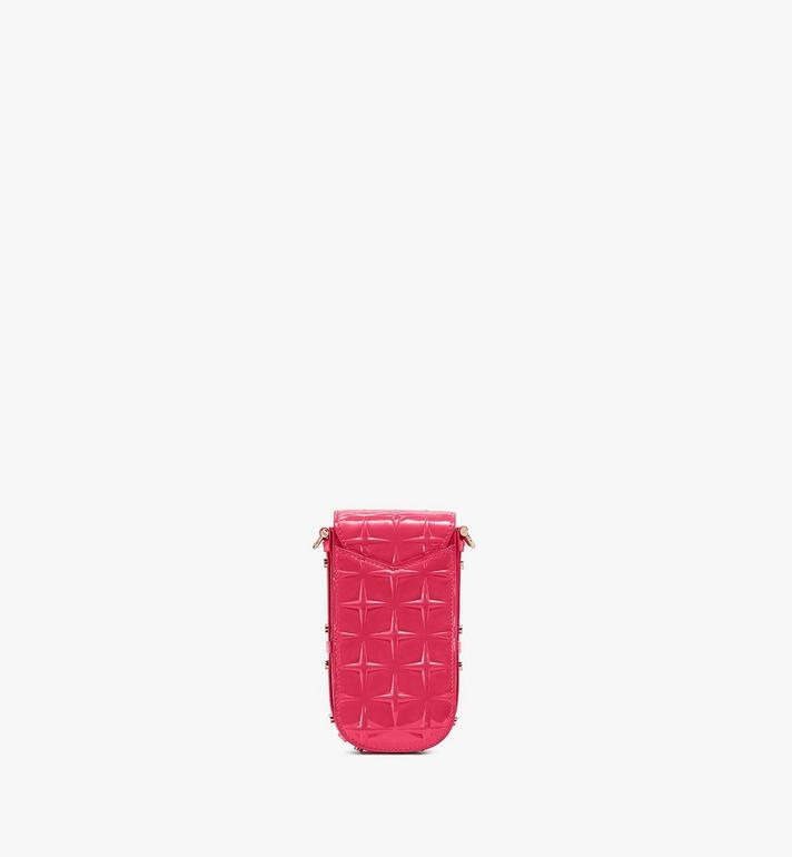 MCM Patricia Crossbody-Tasche aus Lackleder mit Rautenmuster Pink MWRASPA09QE001 Alternate View 3
