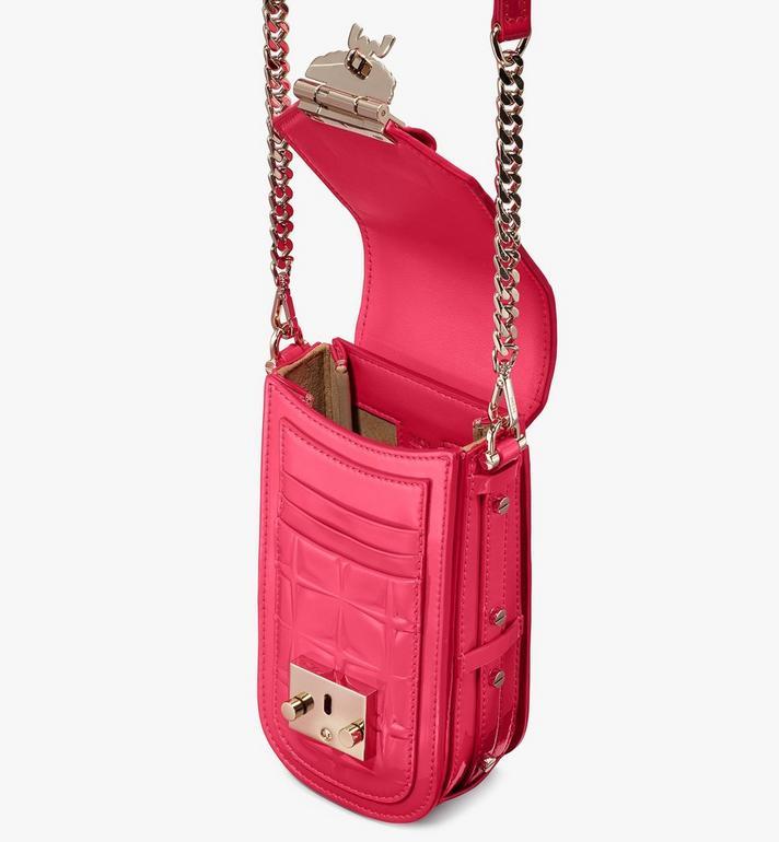 MCM Patricia Crossbody-Tasche aus Lackleder mit Rautenmuster Pink MWRASPA09QE001 Alternate View 4