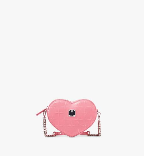 Patricia Heart Crossbody in Diamond Patent Leather
