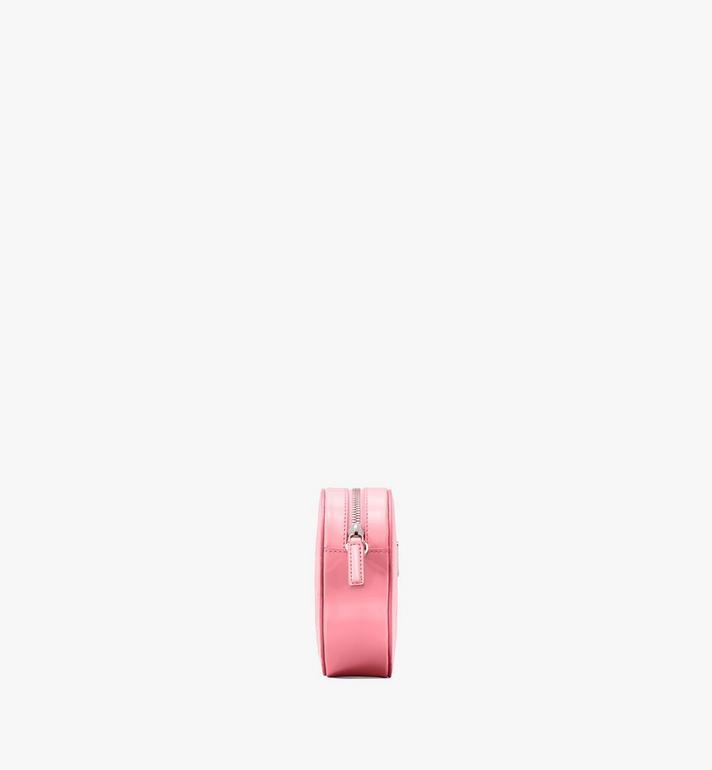 MCM Herzförmige Patricia Crossbody-Tasche aus Lackleder mit Rautenmuster Pink MWRASPA10QG001 Alternate View 2