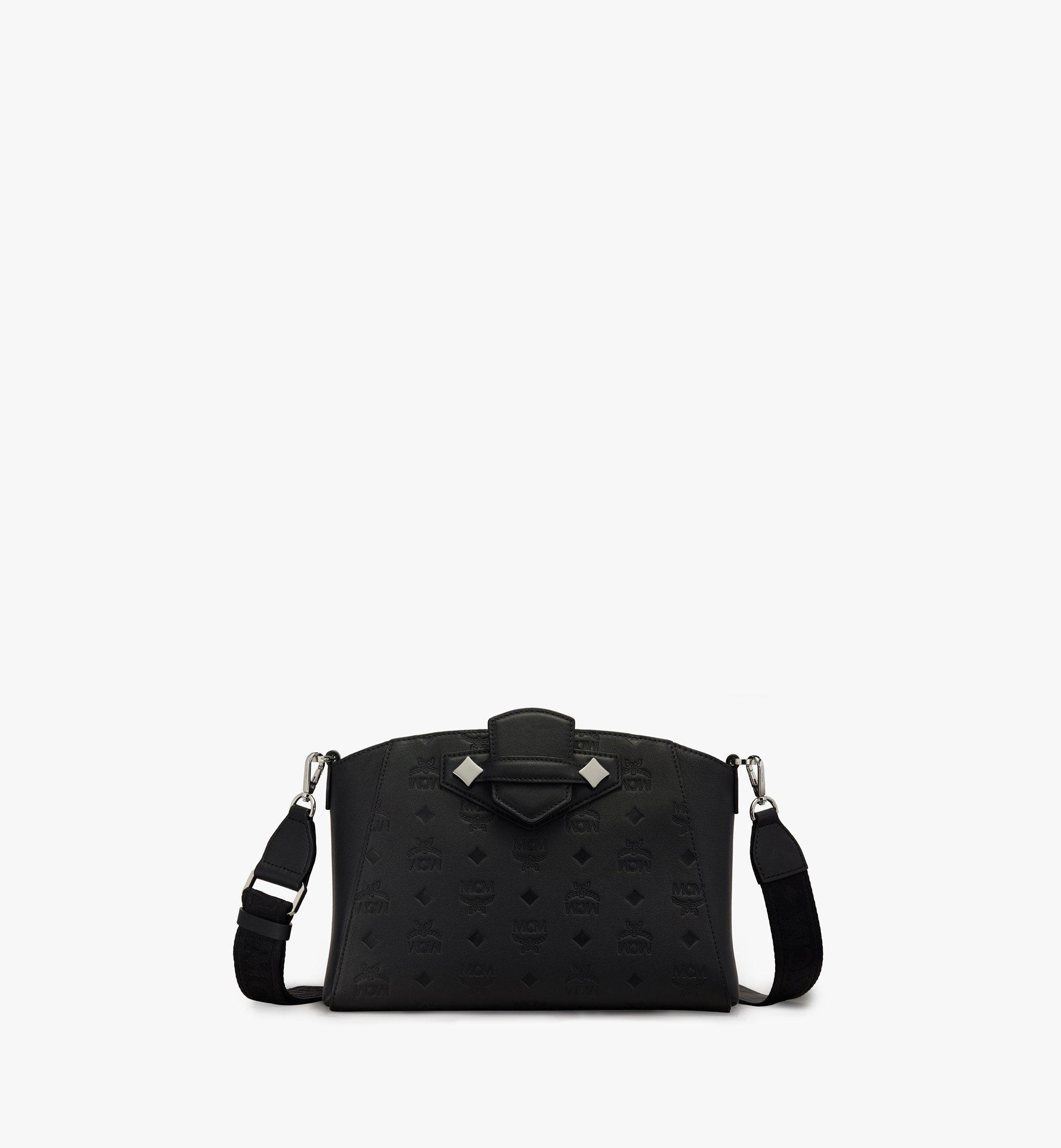 MCM Essential Crossbody-Tasche aus Leder mit Monogramm Black MWRASSE06BK001 Alternate View 1